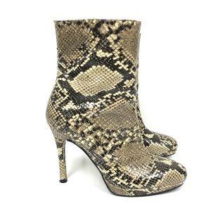 Stuart Weitzman Snakeskin Ankle Boots 5.5 M EUC
